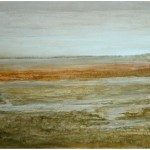Camargue (2009) – mixed media on panel – 24×47 in – $2200.