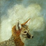 Fox Portrait (2010) – mixed media on panel – 16×16 in – $2000.