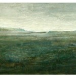 North (2009) – mixed media on panel – 16×47 in – $2100.