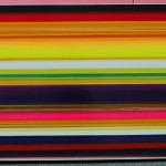Panorama Linux (2008) - enamel & lacquer on canvas – 28x87x5 in – $12500.
