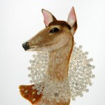 Young Doe (2010) - mixed media on paper - 30 x 21 in. - $1200 (framed)