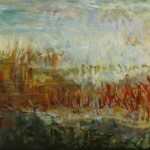 Nearside of the Lagoon (2010) – acrylic on canvas – 24×48 in – $2600.