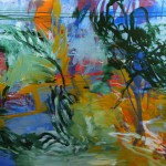 Seaweed Near the Surface (2010) – acrylic on canvas – 48×60 in – $5500.