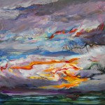 Storm Clouds Over the Islands II (2010) – acrylic on canvas – 16×16 in – $950.