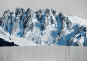 Mt Tiedmann, oil painting by David Pirrie